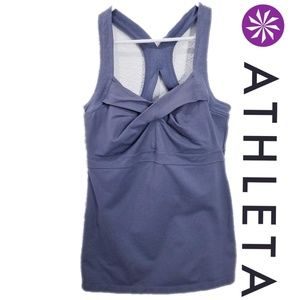 Athleta active top size L attached sports bra
